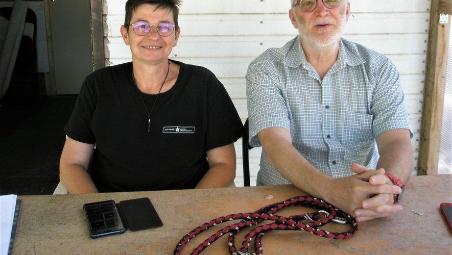 Valérie Gombert et Fabien Schneider responsables du centre canin ruthénois