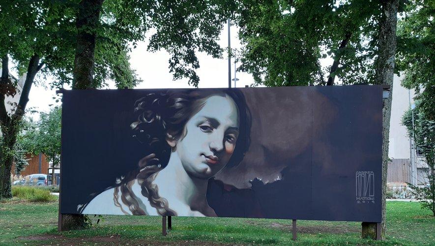 L'oeuvre d'Andrea Mattoni quelques heures avant d'être effacée