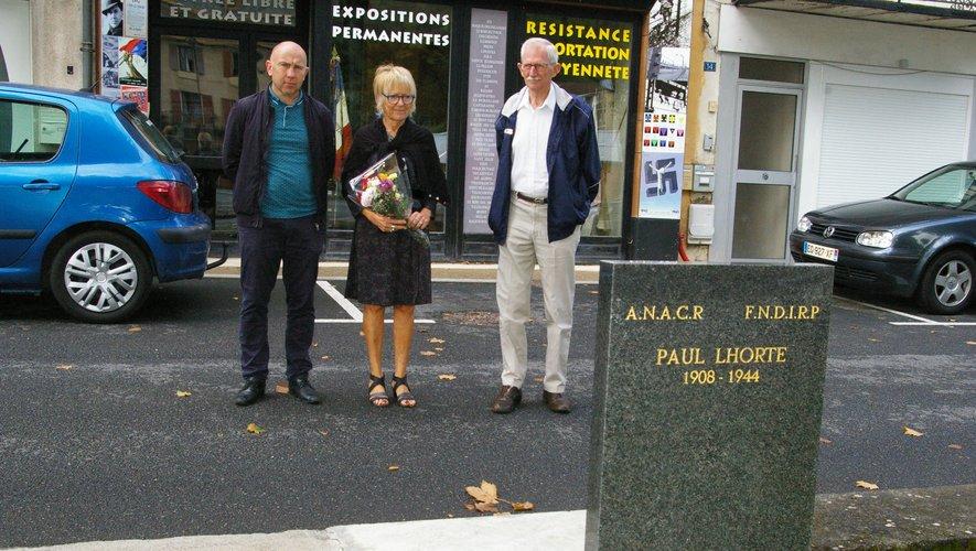 À Aubin devant la stèle Paul Lhorte, à Decazeville, Viviez, Montbazens, Galgan et Naussac, Marie Josée Auget et Pascal Mazet de l'Anacr ont déposé des gerbes aux monuments aux morts.