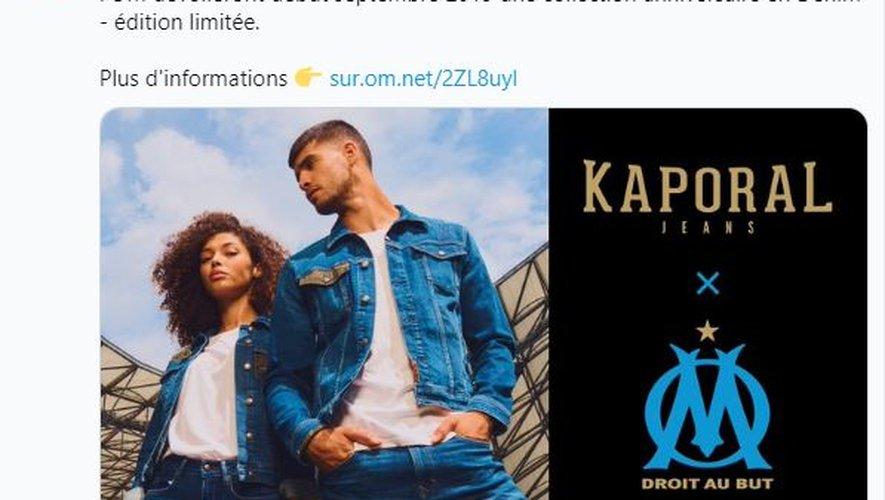 Kaporal et l'OM s'associent autour d'une collection de prêt-à-porter en denim.
