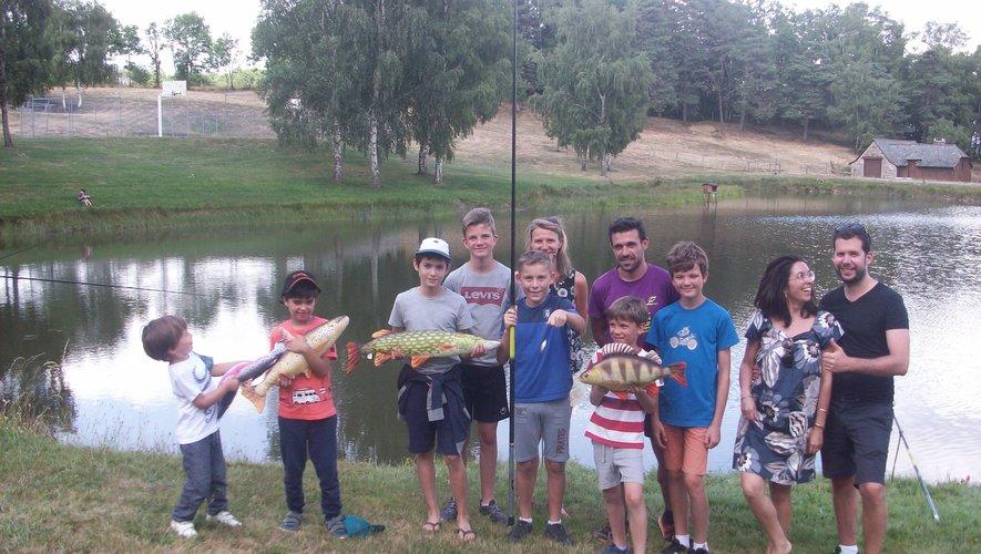 Les jeunes se sont initiées à la pêche