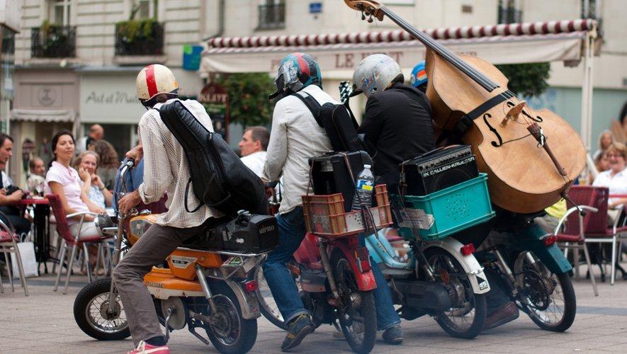 Les musiciens du quartet Tobrogoï feront rugir leurs mobylette dans le parc