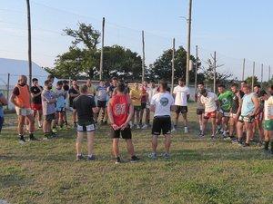 Les seniors et les coachs de LSA XV lors de la reprise des entraînements.