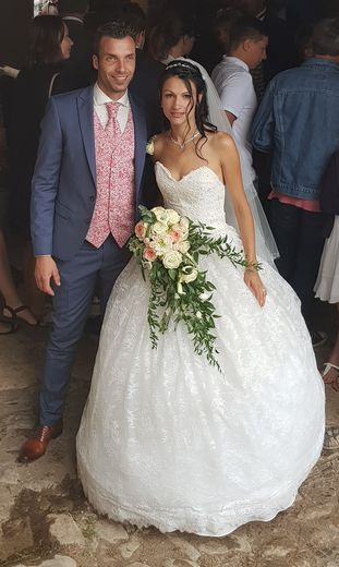 Perrine et Geoffrey se sont mariés dix ans jour pour jour après leur rencontre