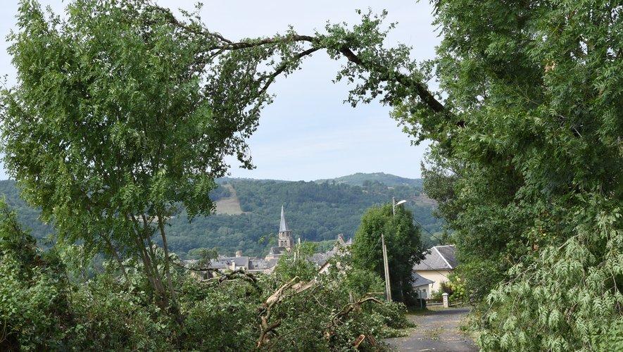 Le village au clocher Tor a été le plus touché.