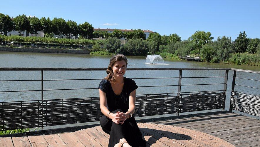 Après huit années passées à Londres, Delphine Mégret s'est installée à Perpignan voilà un an. Elle aime se ressourcer au parc de Saint-Vicens.