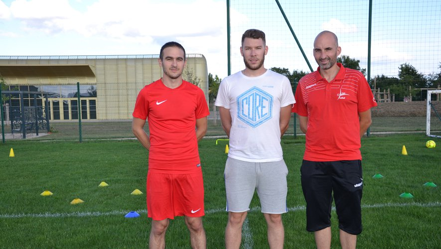Florian Méjane, Grégory Mazars et Stéphane Boyer constituent le nouveau staff de l'AS Olemps football.