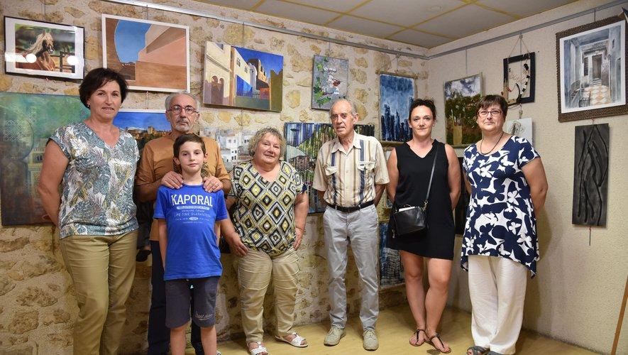 Les artistes en présence de Cathy Mouly Conseillère départementale