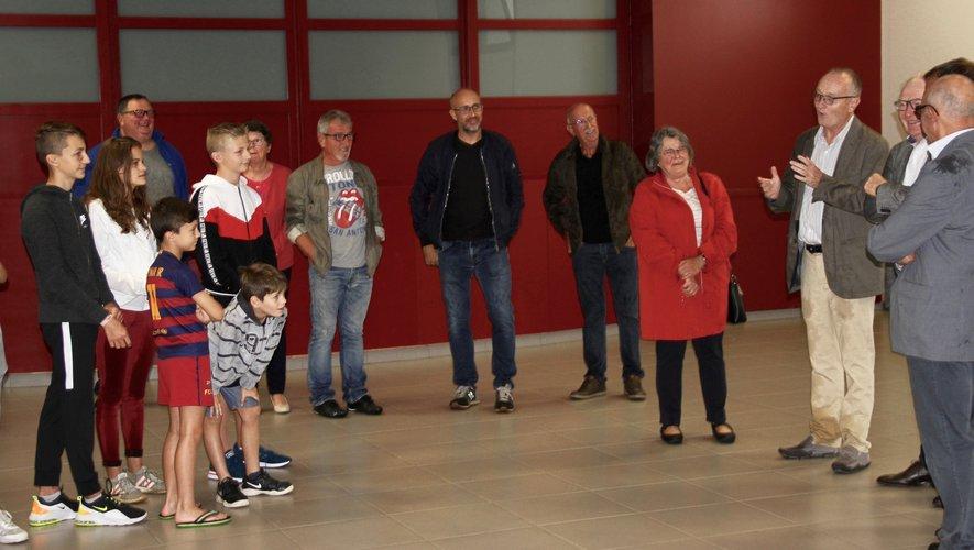 L'inauguration dans la salle d'animation d'Agnac.
