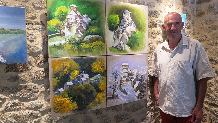André Lavergne, enfant du pays, expose à Bés-Bédène jusqu'au 18 aotû