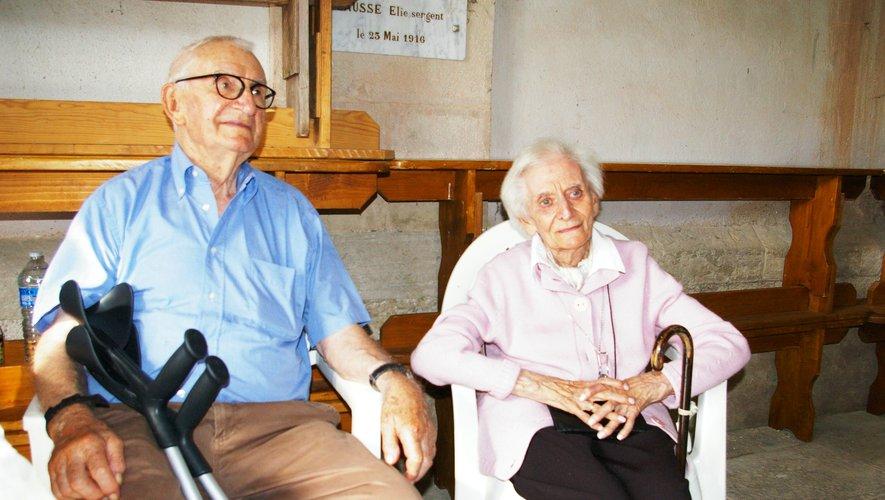 Monique Boyer-Robert et René Latieule, deux témoins oculaires de cette journée.