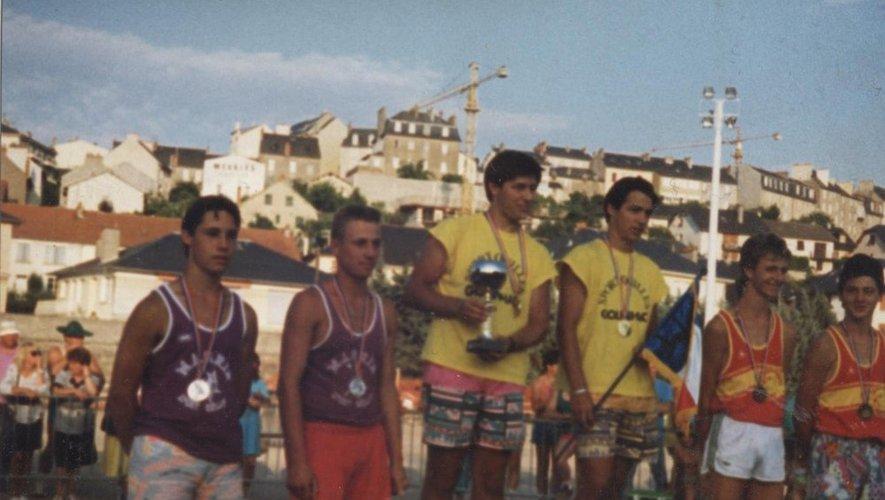 Le club a décroché trois titres de champion de France par équipes comme ici en 1989.