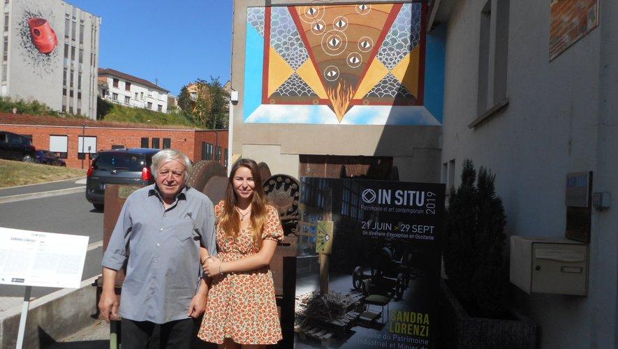 Océane Olivié avec Michel Herranz, coprésident de l'ASPIBD.