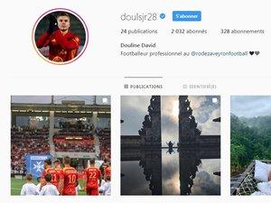 Certains joueurs du Raf, à l'image de David Douline, possèdent un compte Instagram.
