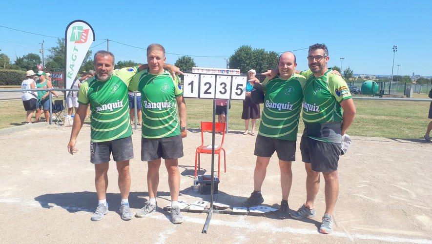 Les quatre Primaubois fiers d'afficher le score réalisé !