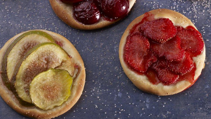 Mini pizza sucrée aux fruits