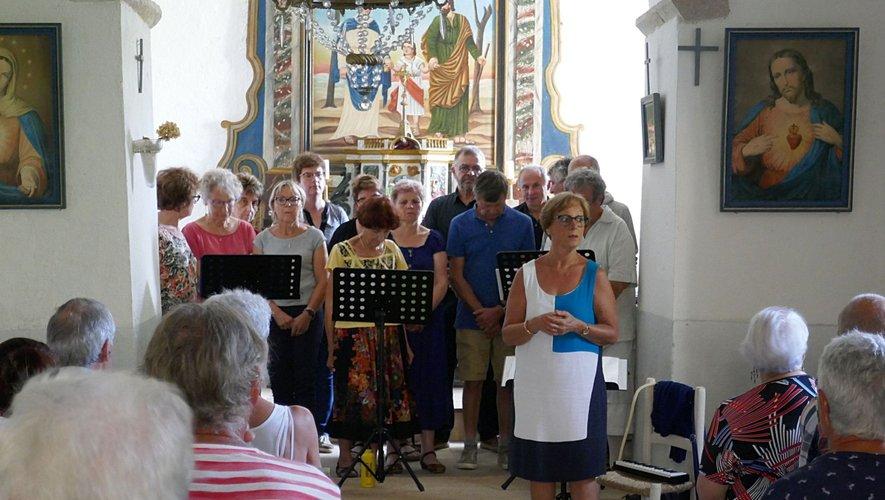 La chorale LKP s'est produiteà la chapelle de Murat.