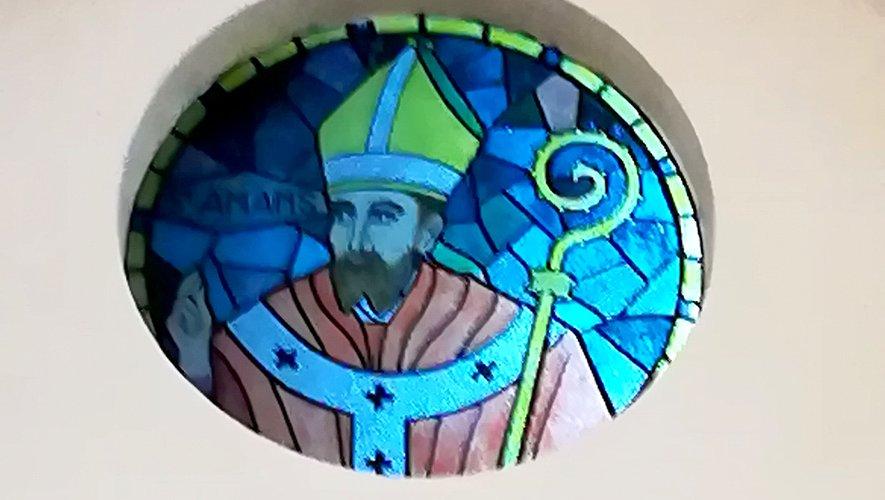 Vitrail de saint Amans.