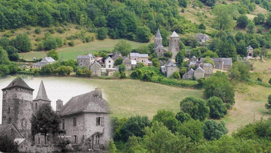 Brussac et son ancien couvent en bas à gauche.