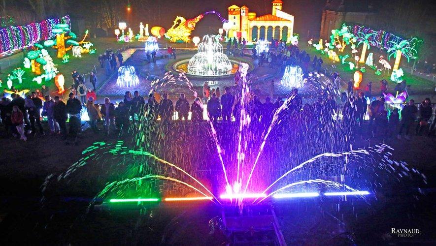 Un exemple de fontaine lumineuse que Sébastien Mouly, responsable de l'entreprise de Mayran, veut dupliquer dans la Perle du Rouergue.