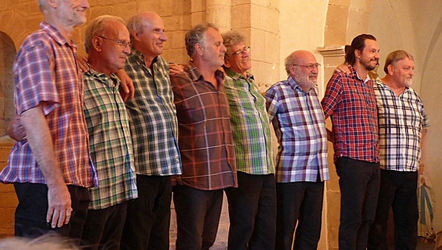 Un chœur d'hommes qui a marqué les lieux de son empreinte vocale./DDM.