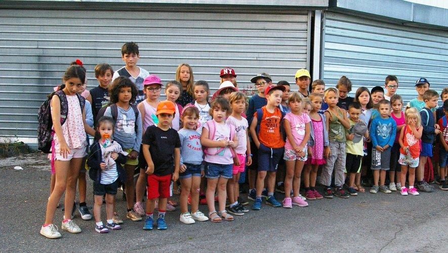 Les enfants au moment du départ.