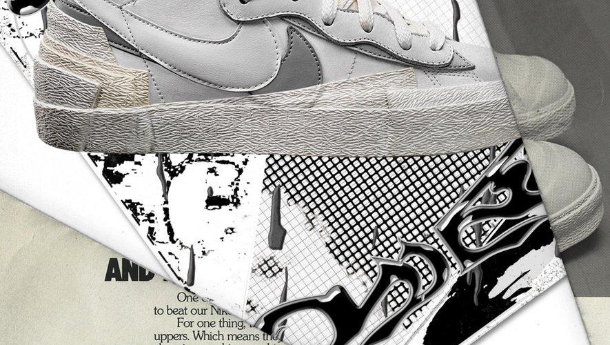 """L'un des nouveaux coloris de la """"Blazer"""" issue de la collaboration entre Nike et Sacai."""