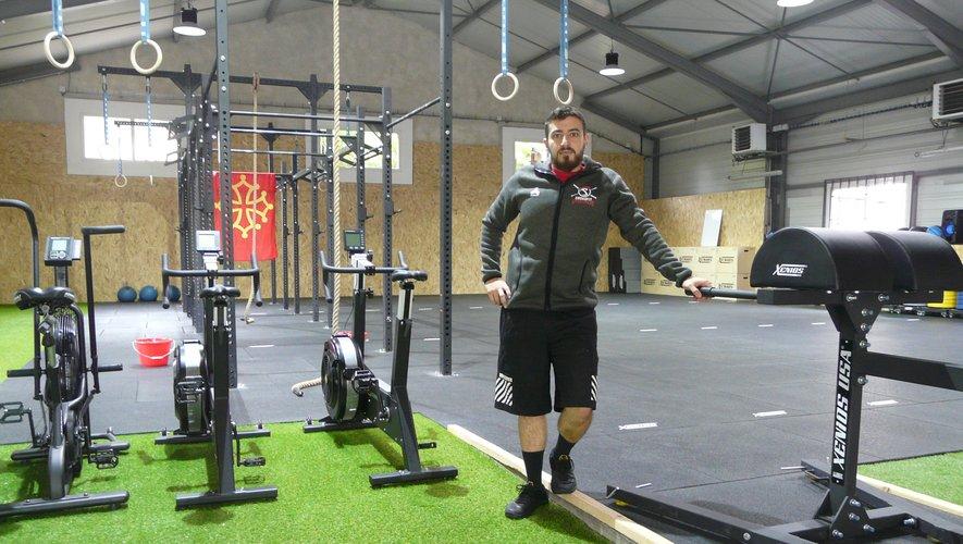 Anthony dans sa salle de CrossFit d'Onet.