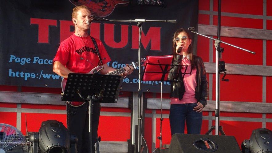 Le duo Trium a animé la soirée