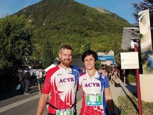 Jérôme et Stéphanie Pradalié au trail des Novis.