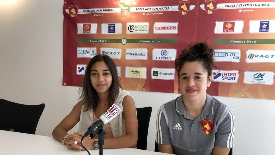 Chloé Bornes et Margaux Bueno sont à Rodez pour faire remonter l'équipe une.