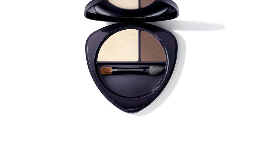 """La """"Palette Ombres à Paupière Duo"""" issue de la nouvelle collection de maquillage éphémère de Dr. Hauschka."""