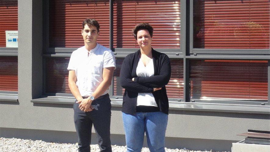 Manon Pain et Alexis Gladin,les nouveaux visages de la mairie.