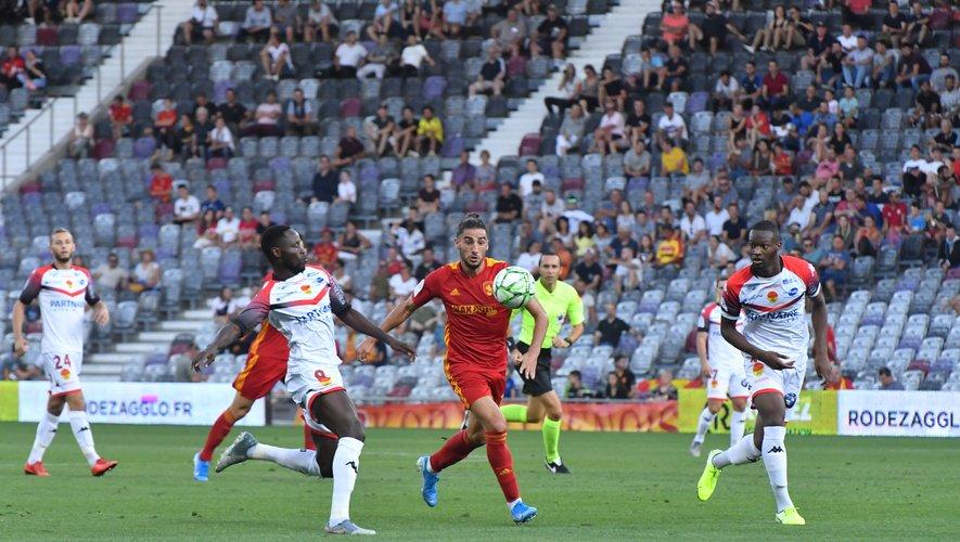 Ugo Bonnet a permis à son équipe de prendre un point dans les arrêts de jeu de la rencontre face à Orléans, hier soir.