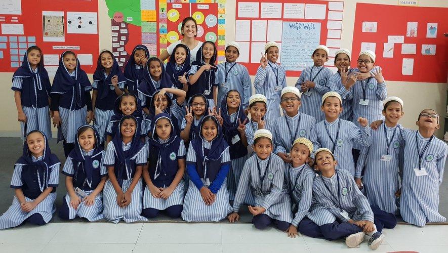 Anaïs Salson a quitté l'Aveyron au mois d'août 2018 pour un « tour du monde de l'éducation » d'un an qui l'a déjà menée, par exemple, dans une école en Inde.