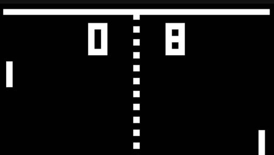 """""""Pong"""", l'un des premiers jeux vidéo d'arcade, date de 1972."""