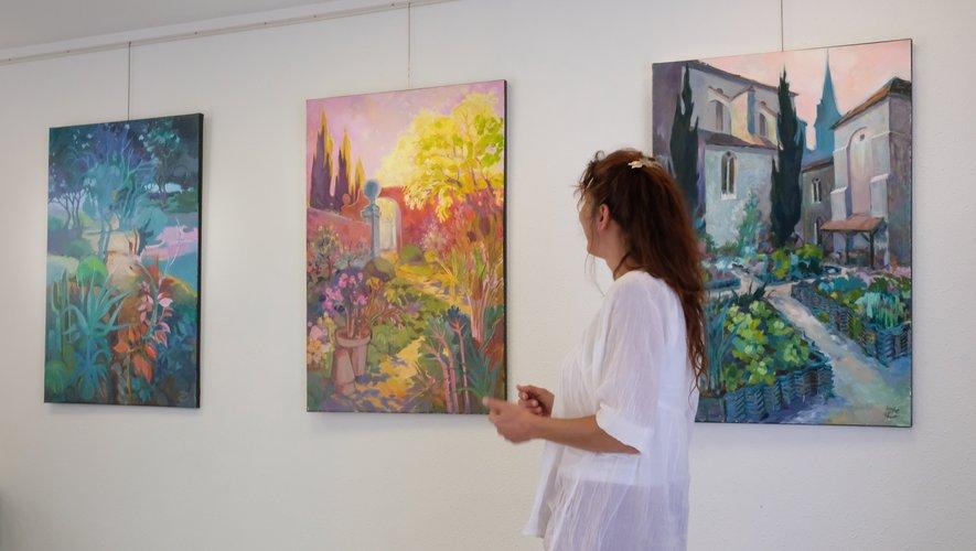 Exposition des tableaux de Daniel Lefranc à La Salvetat.