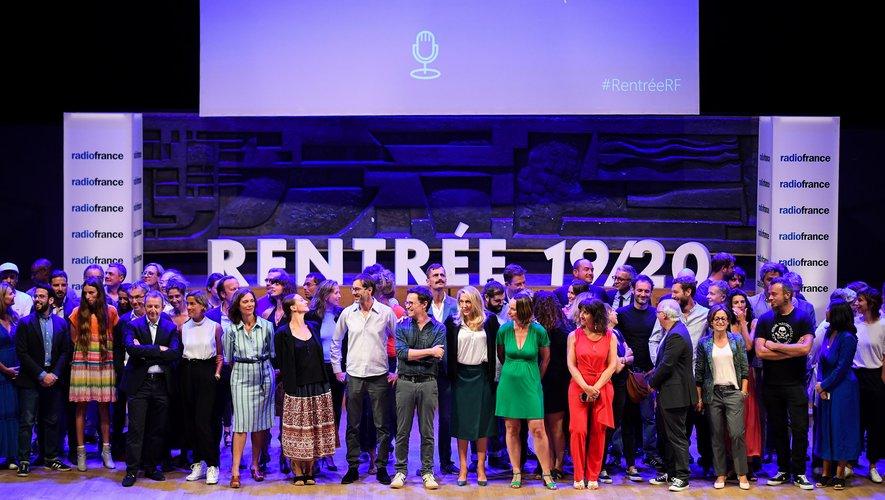 Photo de famille à Radio France à l'entame de la nouvelle saison