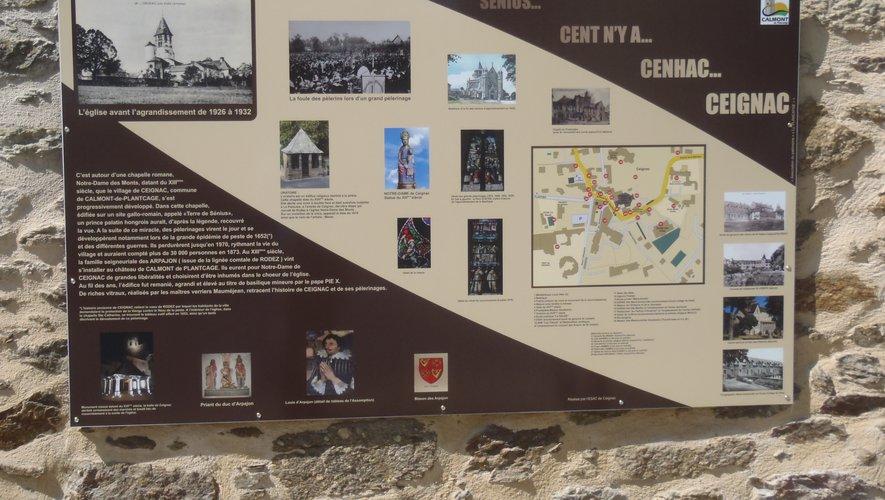 Le tableau explicatif qu'il vaut mieux consulter sur place... L'évolution du nom du village au cours des siècles...