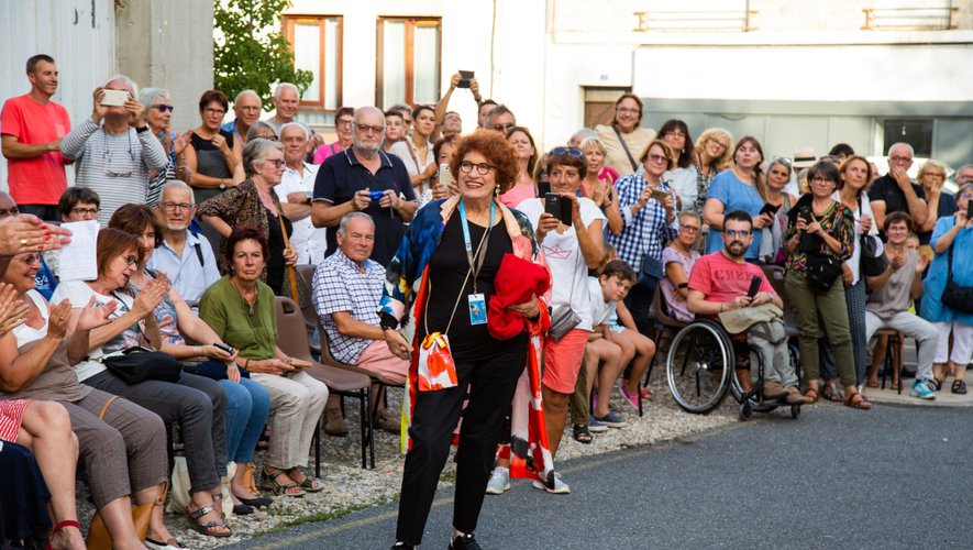 La comédienne a toujours plaisir à venir à Espalion et aller à la rencontre du public.