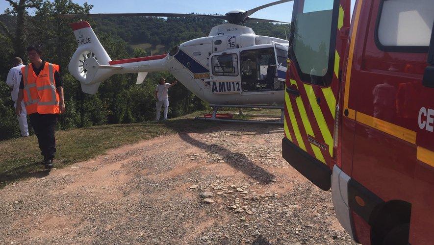 L'hélicoptère du Smur est intervenu sur place.