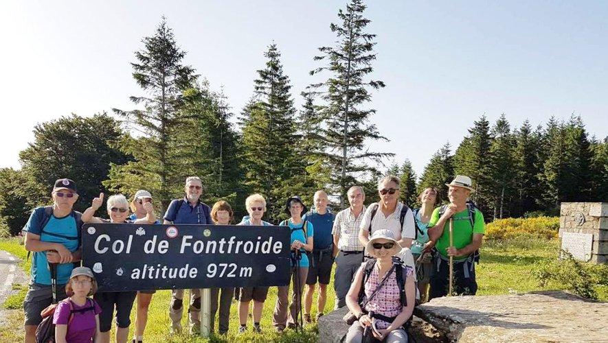 Les randonneurs de la Viadène dansla montagne du Haut Languedoc
