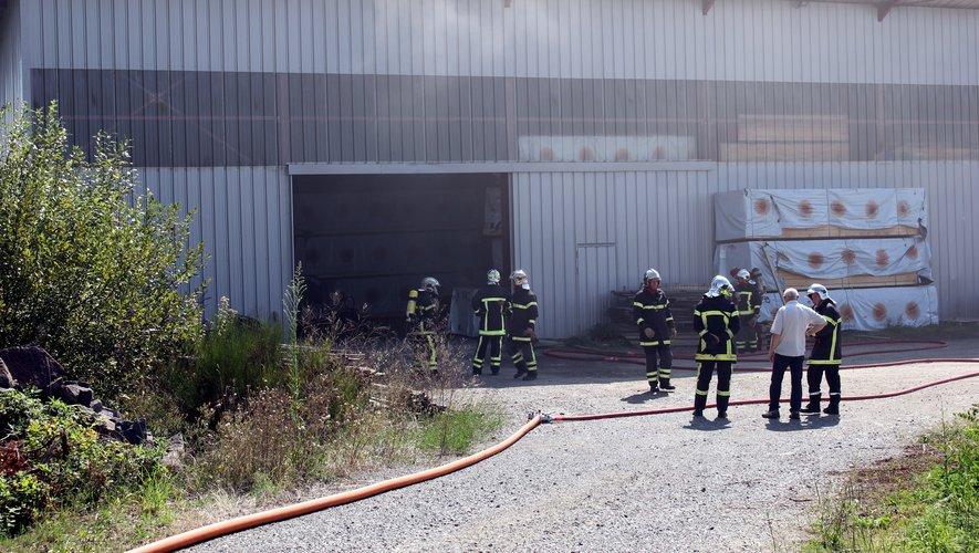 Les sapeurs-pompiers du Bassin et de Maurs sur les lieux.