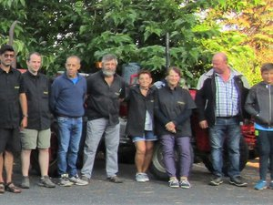 Une balade de 355 kilomètres pour une dizaine de membres de l'association Tracteurs Rétro 12