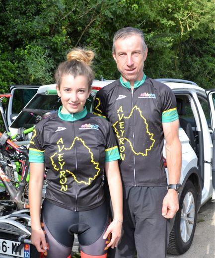 Le président et sa fille Amandine,multichampionne départementaleet régionale.