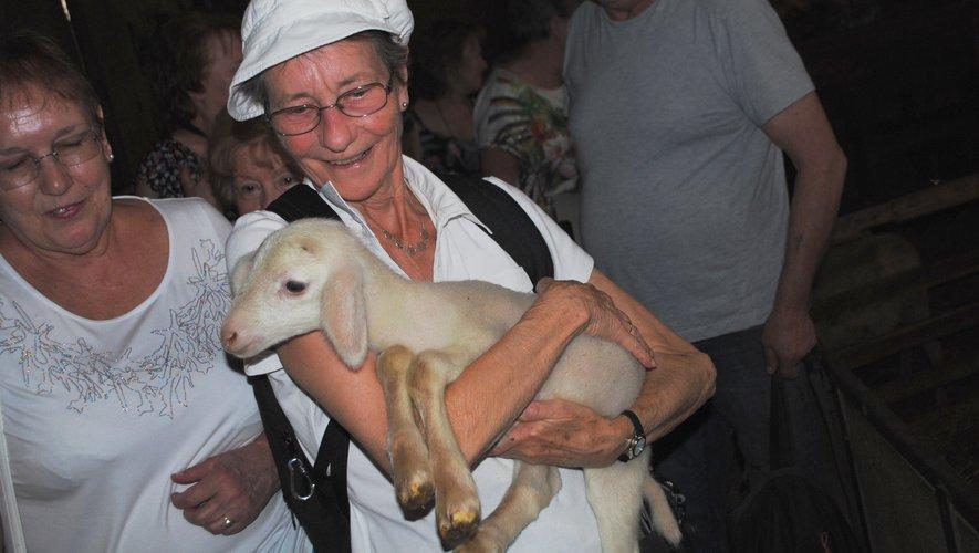 Durant la visite, les vacanciers ont la possibilité de prendre les jeunes bêtes dans les bras.