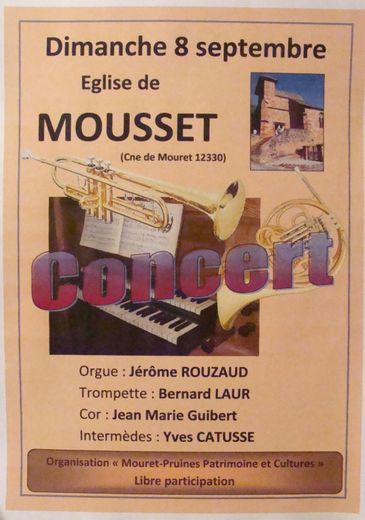 Concert à Mousset