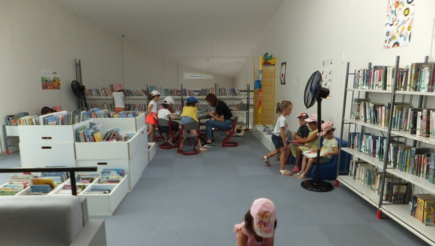 Les enfants de l'accueil de loisirs bénéficient de cet espace culturel.