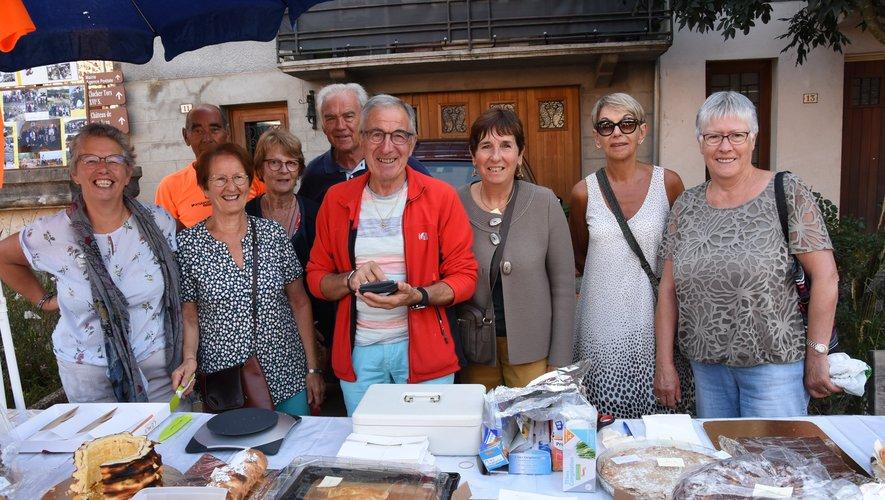 Les gourmandises des pâtissières du club ont connu le succès.