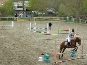 Leçon d'équitation à Bannès